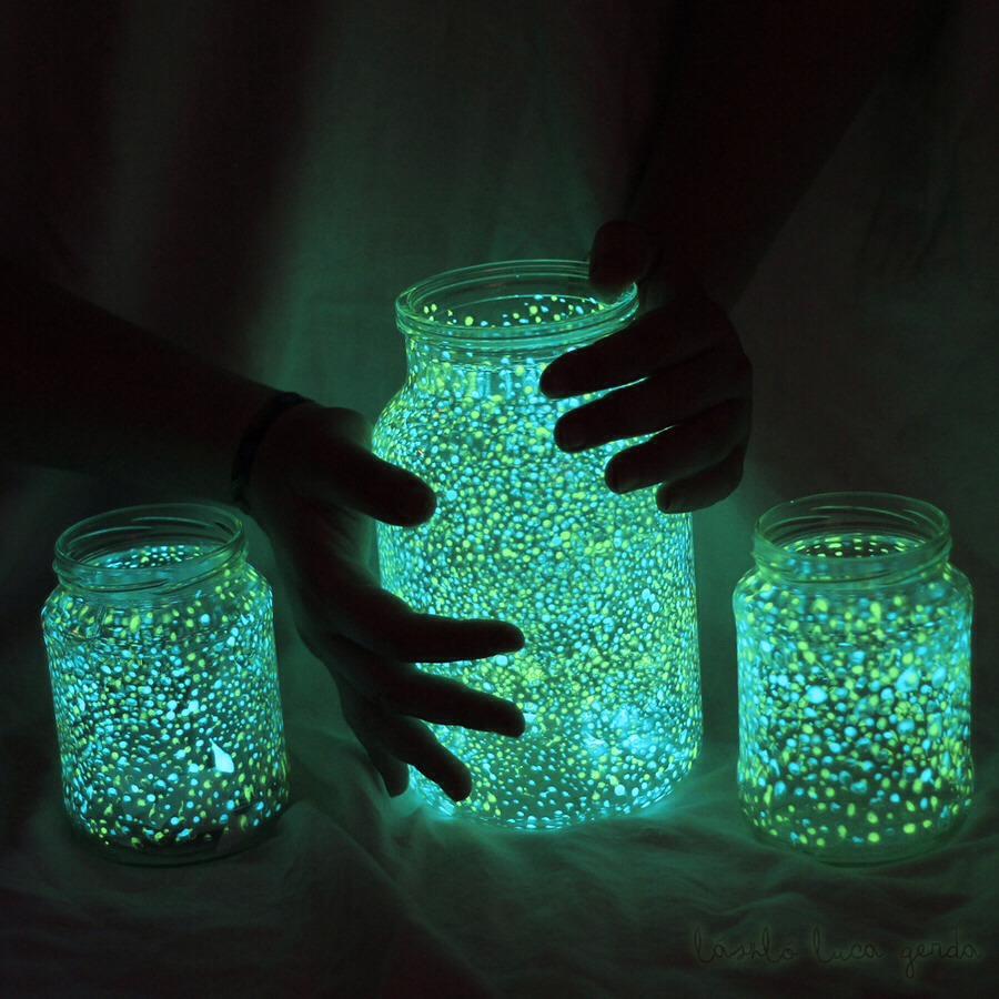 diy glow in the dark jar room decor trusper
