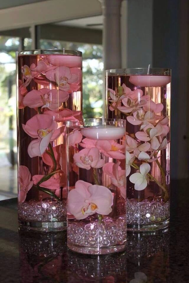 Floating Candle Centre Pieces.