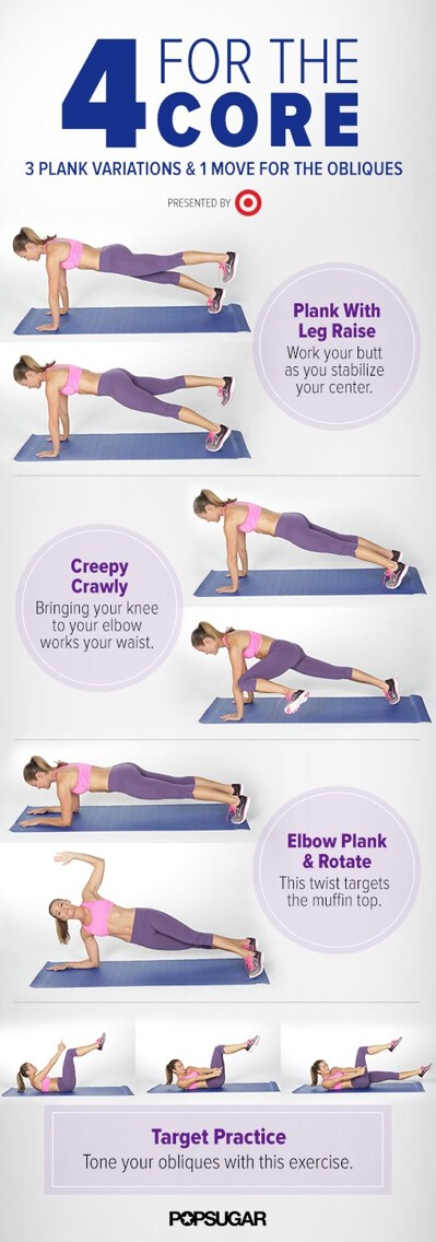 This Workout Targets Obliques To Tone The Muffin Top + Will Work Your Middle From All Angles