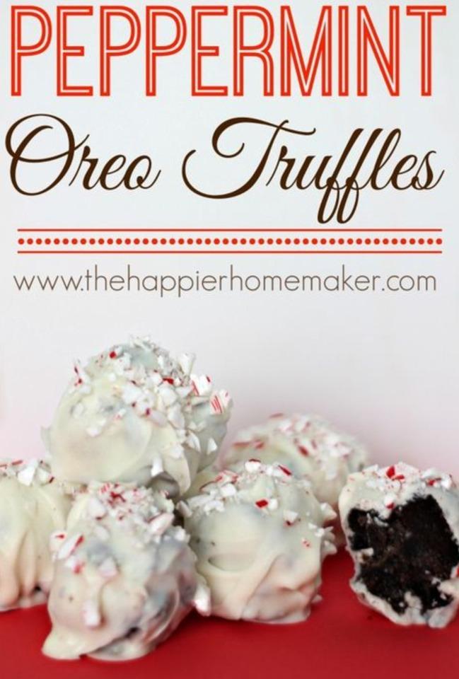 Peppermint Oreo Truffles | Trusper