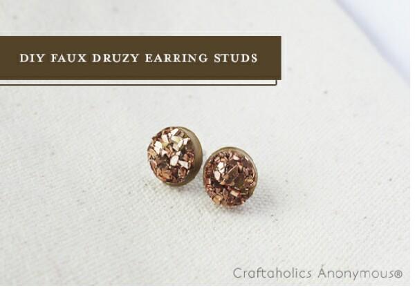 DIY Druzy Earring Studs!!!