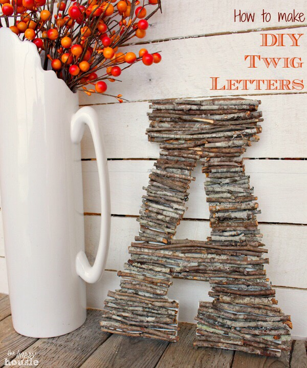 🌰 How To Make DIY Twig Letters - PERFECT Decor For Fall! 🌰