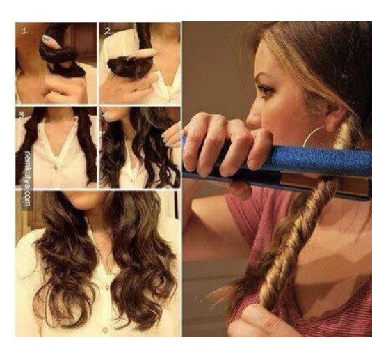 How To Curl Your Hair With A Straightener Trusper