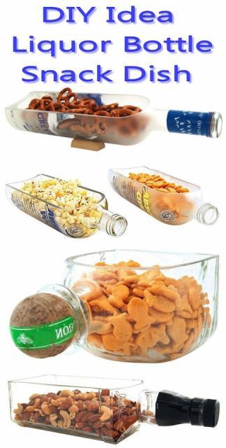 DIY Liquor Bottle Snack Dishes!