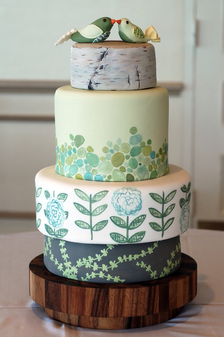 Nature Themed Birthday Cake