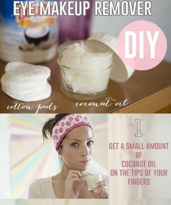 """""""Coconut oil is anti-bacterial, anti-yeast, and also works as a great first-aid cream. Because of its detergent effect, it works well as a makeup remover,"""" explains Thornfeldt. However, it is important to only use the coconut oil as you would use a cleansing oil—no abrasive washcloths or cotton pads are needed. Simply liquify the coconut oil in your hands when it's in its natural solid state, and gently rub onto dry ."""