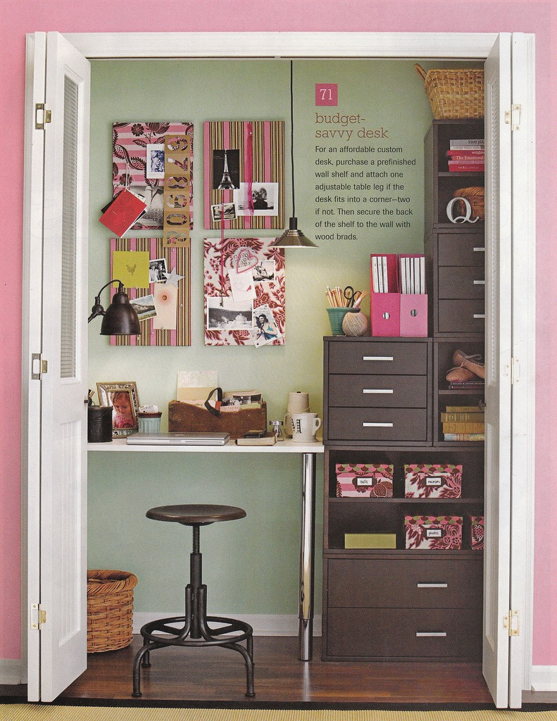 diy turn your closet into an office or desk area trusper
