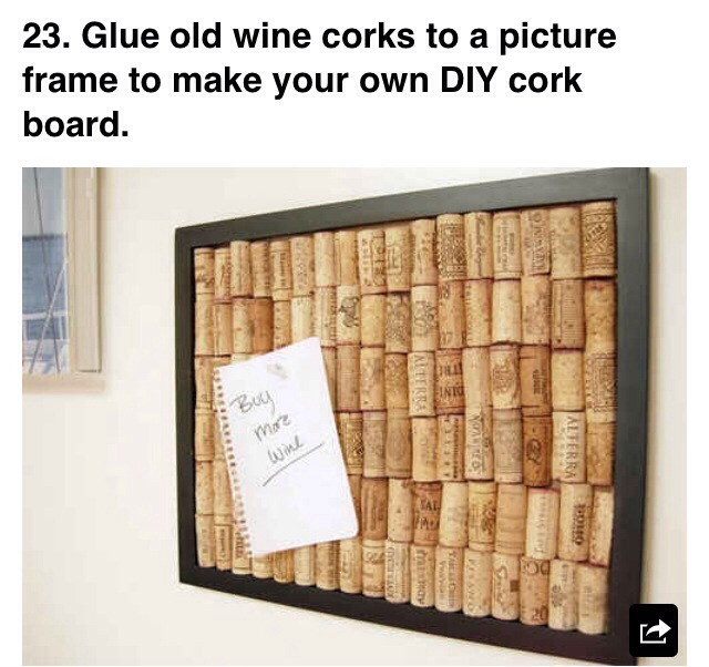 More lady life hacks trusper for Making a cork board from wine corks