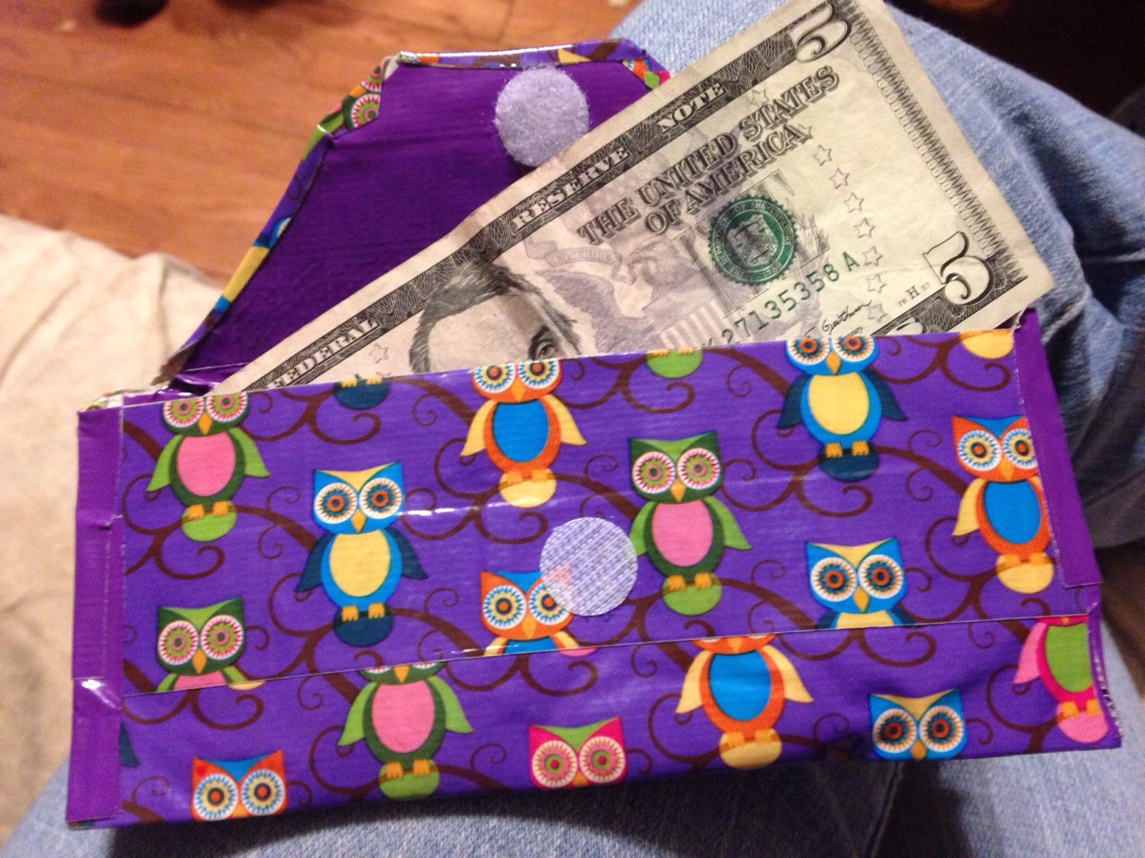 Cute Money Wallet For Gifts Made From Duct Tape!!!