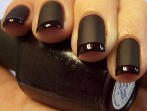 OMG, Love This --> Black Matte Manicure --> How To Make Matte Nail Polish 👍