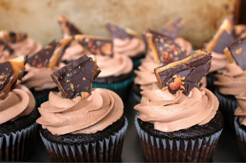 Chocolate Whiskey Cupcakes.Chocolate and whiskey is a bit like ...