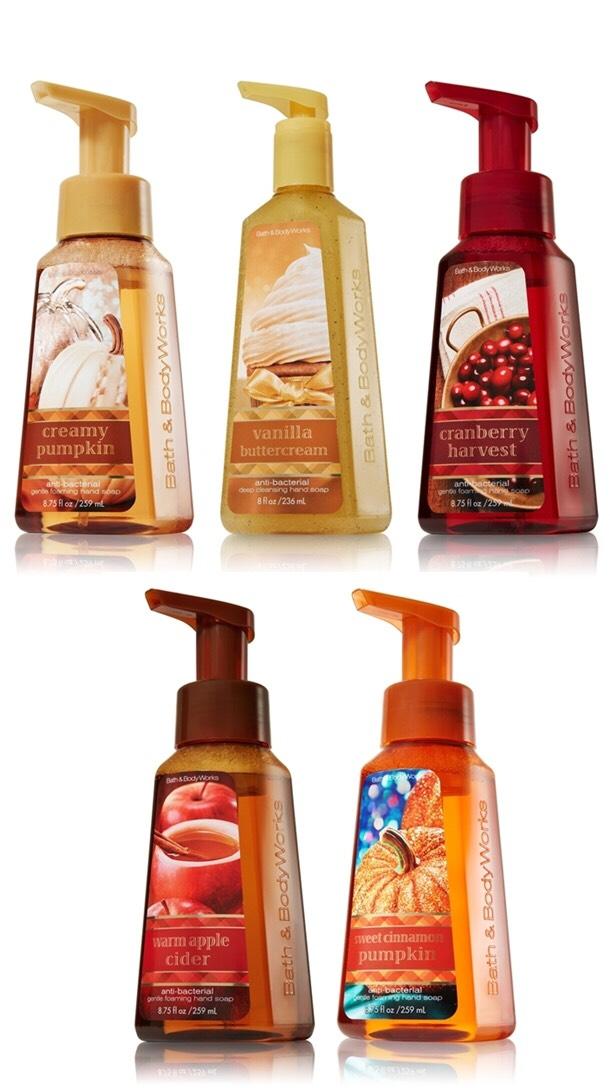 Bath and body works fav trusper for Fall soap scents
