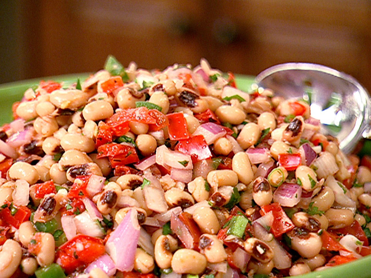 40. Black-Eyed Pea Salad: Whisk lime juice with minced garlic, ground ...