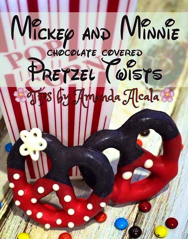 ❤️Mickey And Minnie Chocolate Covered Pretzel Twist❤️ #tipit