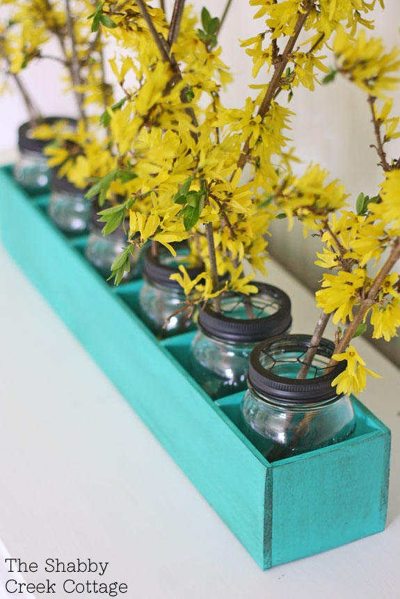 Diy mason jar flower box centerpiece trusper