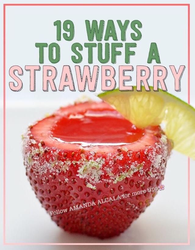 💖 19 Ways To Stuff A Strawberry! 💖 #tipit