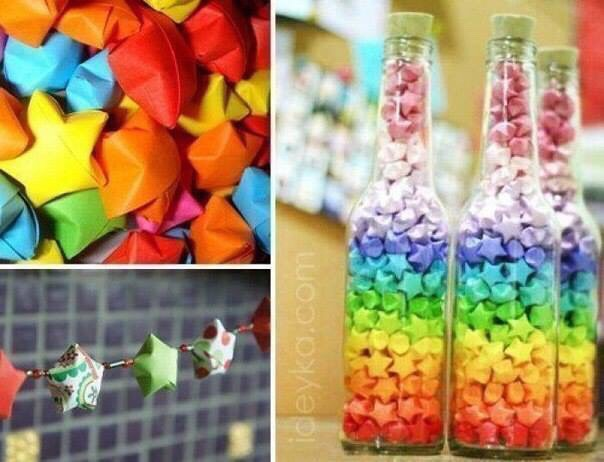 DIY Origami Stars. ⭐️