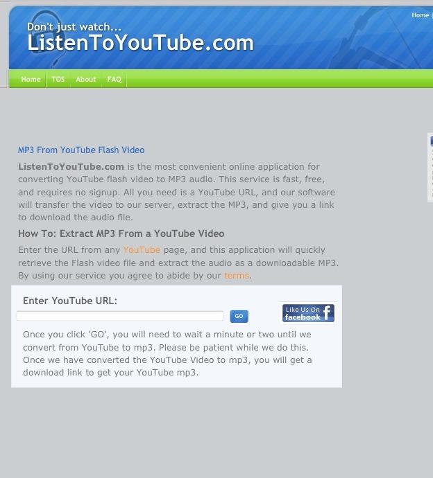 Listen to youtube for Redferret net
