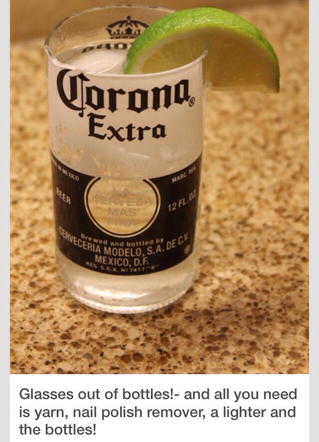 How to cut a beer bottle trusper for Make glasses out of bottles