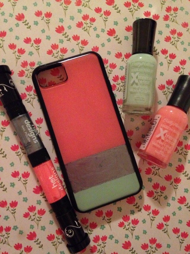 use nail polish to decorate your phone case trusper