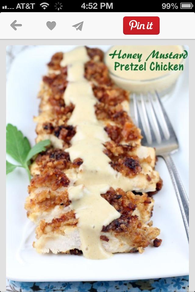 Honey Mustard Pretzel Chicken. Yum!   Trusper