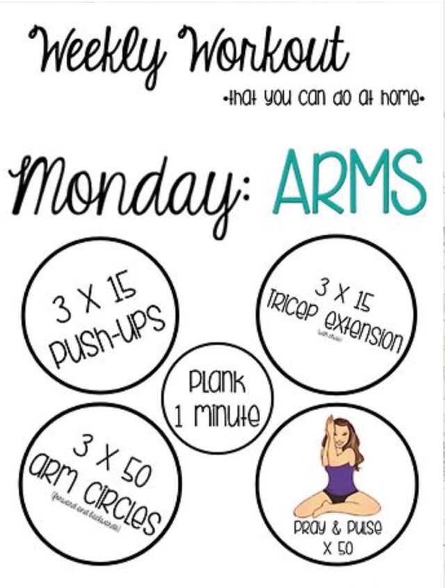 🎀 Weekly Workout That U Can Do At Home 🎀