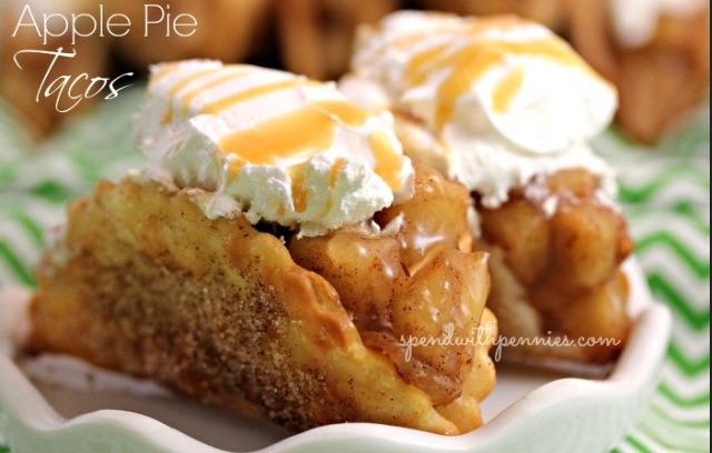 ... -oil-cinnamon and sugar-apple pie filling-caramel sauce-ice cream