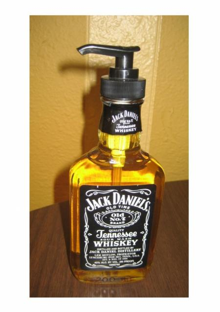 Turn A Bottle Of Whiskey Into A Soap Dispenser