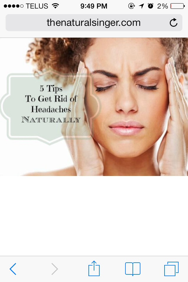how to get rid of headaches and migraines