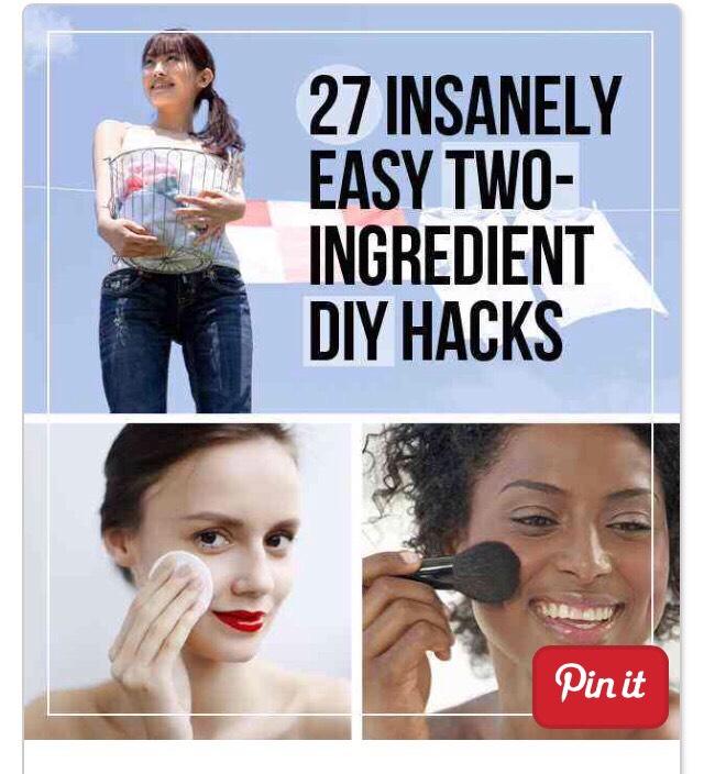 """27 INSANELY EASY 2-INGREDIENT DIY HACKS"""