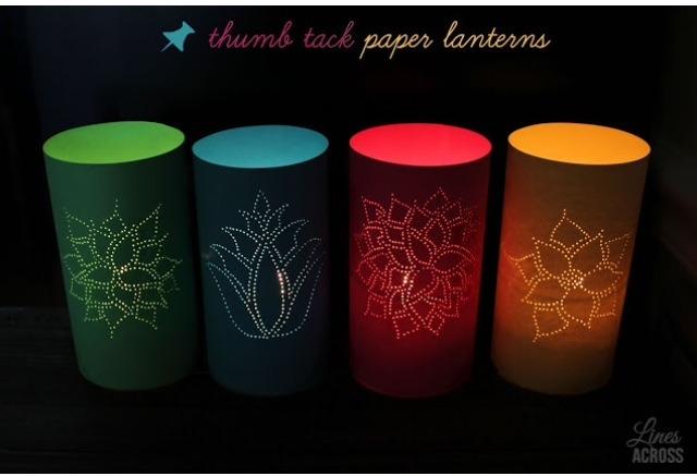 Thumb Tack Paper Lantern