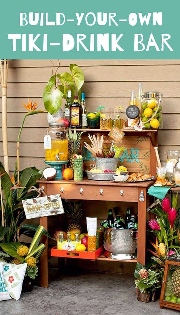 Diy customizable tiki drink bar fun summer idea trusper for How to build a beach bar