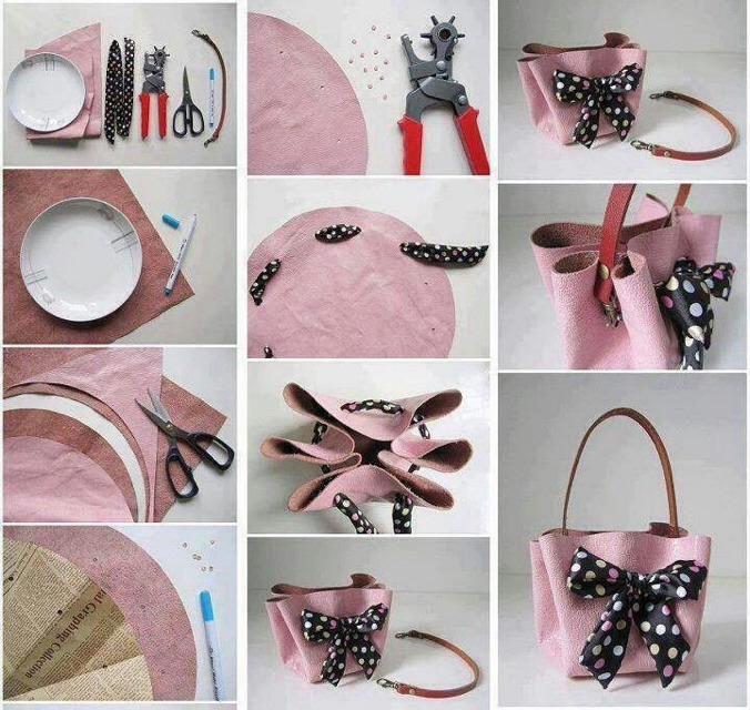 👜🎀💕DIY Handbag Tutorial! Step-by-Step And So Cute!!!!👜🎀💕