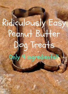 Ridiculously Easy Peanut Butter Dog Treats #tipit