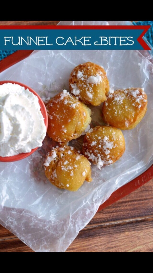 How To Make Delicious Funnel Cake Bites 🎂👌💕