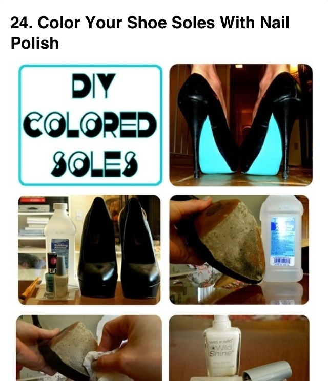 Diy your shoe soles with nail polish trusper for Diy shoes with nail polish