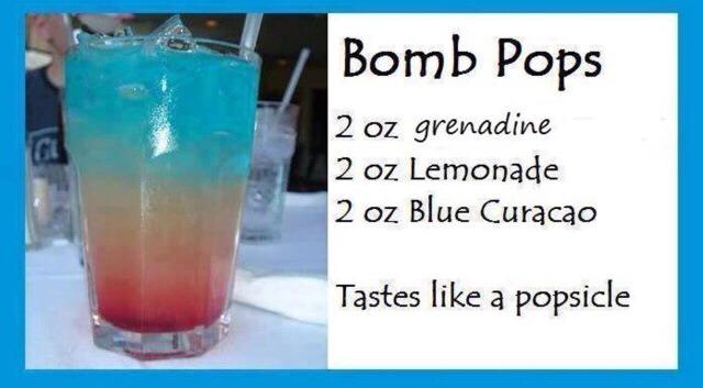 Bomb pops 🍸💕