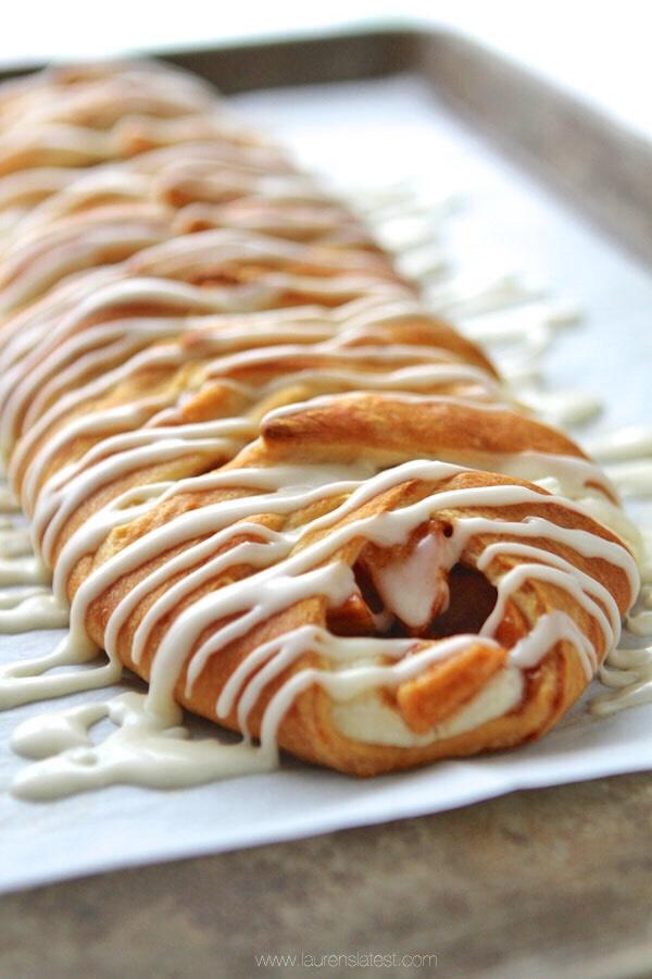 Apple Cinnamon Cream Cheese Danish