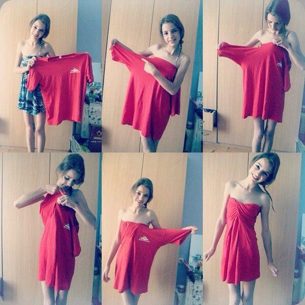 How to make a sexy dress out of a ugly shirt trusper for Make a dress shirt