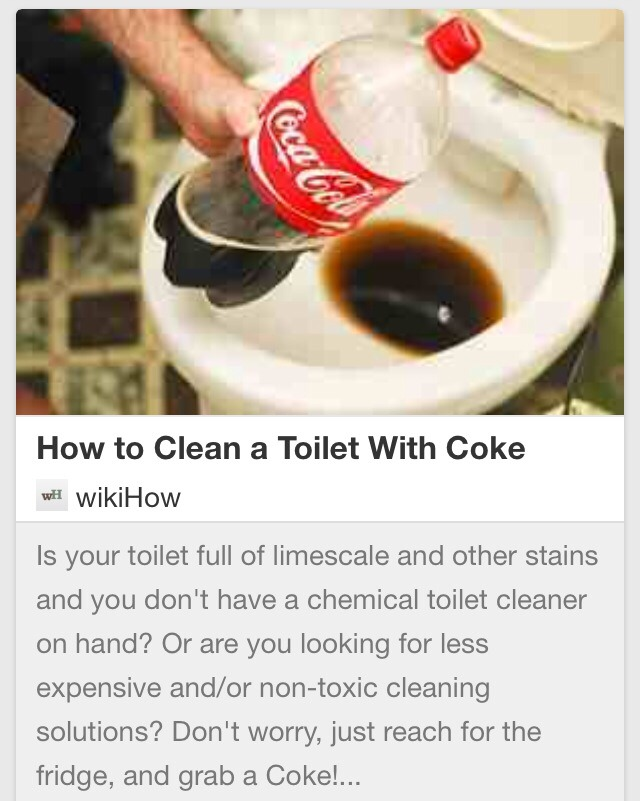 how to clean a toilet with coke trusper. Black Bedroom Furniture Sets. Home Design Ideas