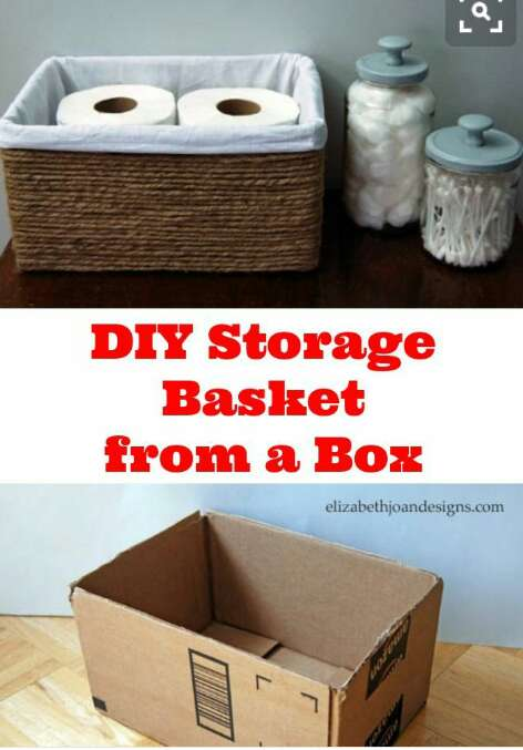 Throwing away ur carton boxes perfect way to re-use thems as a storage boxes