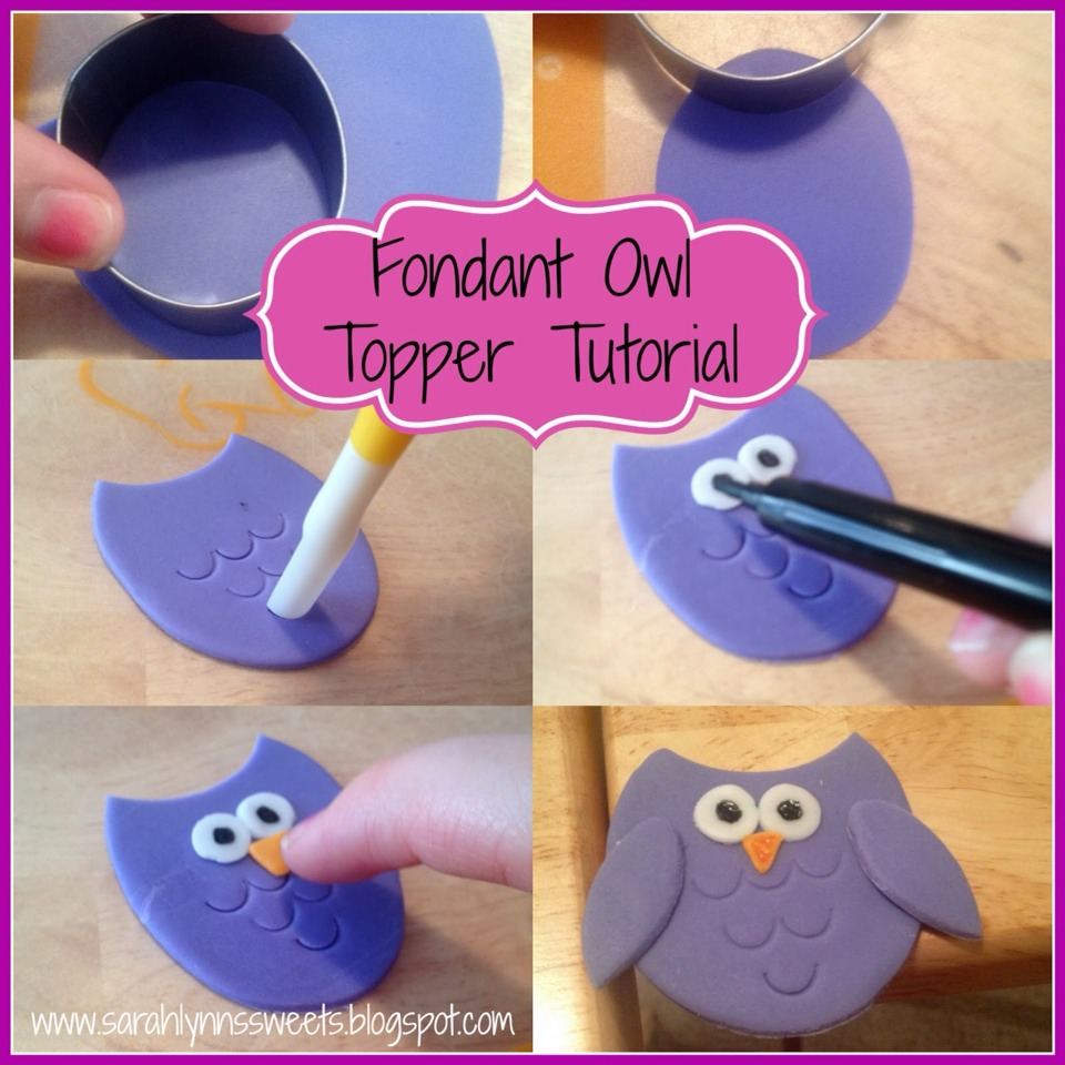 How To Make A D Owl Cake Topper