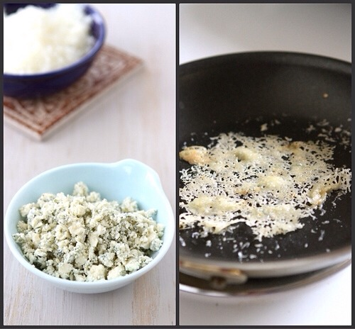 ... Gorgonzola cheese over the Parmesan cheese.-> Cook for 1 min.-> Using