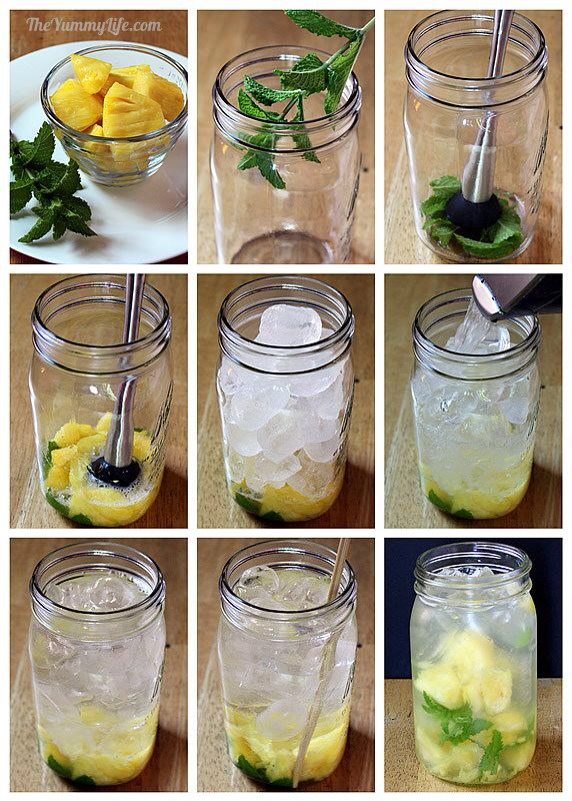 in a glass if you have a soda stream you can make sparkling water ...