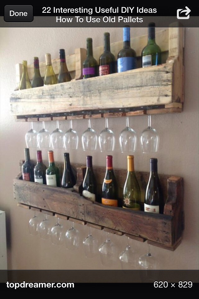 DIY Wine Racks Out Of Pallets🍷
