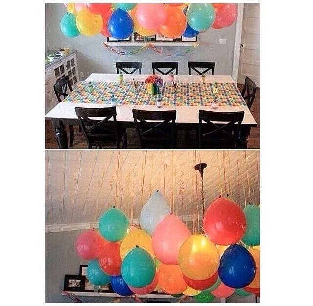 Halloween decor idea trusper for Balloon decoration ideas without helium