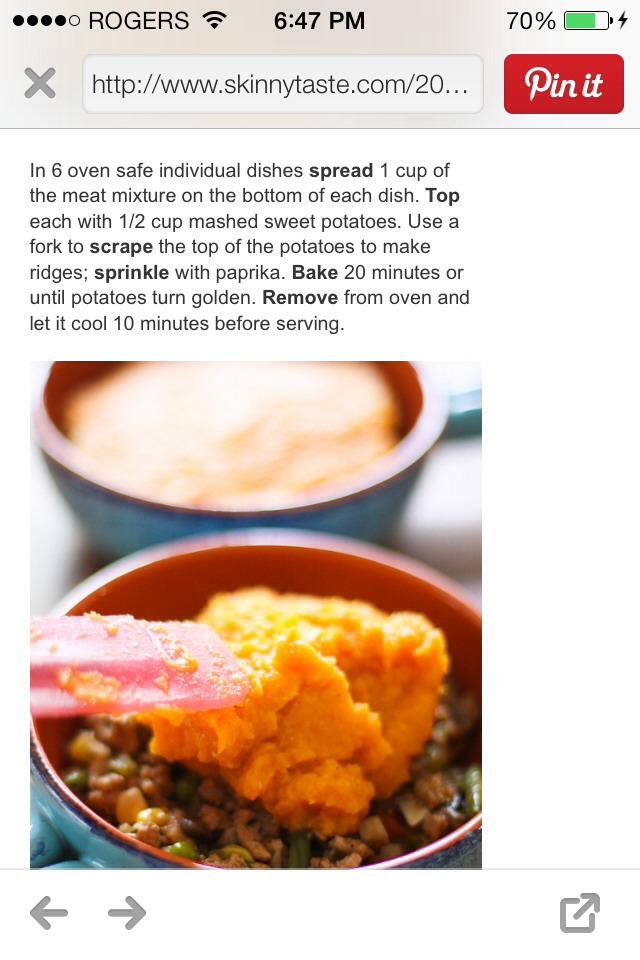 Sweet Potato Turkey Shepherds Pie | Trusper