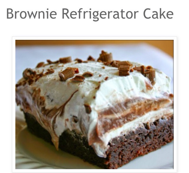 How To Make Brownie Refrigerator Cake