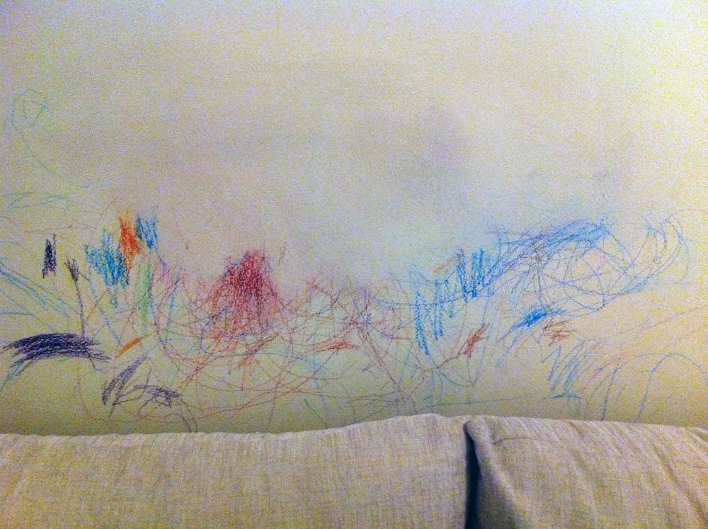 How To Get Rid Of Crayon Art By Your Toddler On The Wall