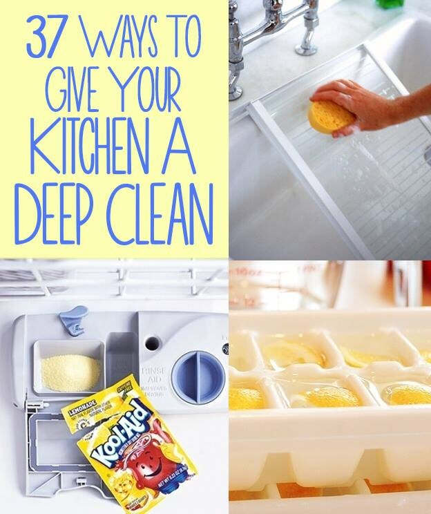 37 Ways To Deep Clean The Kitchen